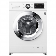 Masina spalat rufe LG F4J3TN5WE, 8 kg, 1400 RPM, Clasa A+++, 6 Motion Direct Drive, Smart Diagnosis, Alb