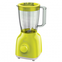 Blender Philips Daily Collection HR2100/40, 400 W, 1.25 l, 2 Viteze, Functie impuls, Galben Lime