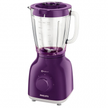 Blender Philips Daily Collection HR2105/60, 400 W, 1.25 l, 2 Viteze, Functie impuls, Violet