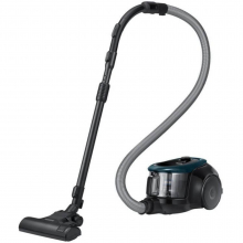 Aspirator fara sac Samsung VC07M21A0VN, 1.5 l, 700 W, Tub telescopic, Anti-tangle Cyclone, Negru/Turcoaz