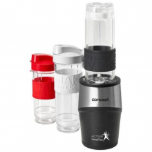Mini Blender Concept SM-3385, 500 W, 23000 rpm, Smoothie, 2 recipiente 570 ml, 1 recipient 400 ml, Fara BPA, Negru