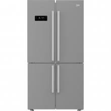 Side by Side Beko, GN1416221XP, 541 l, Clasa A+, NeoFrost, dual cooling, Everfresh+, H 182 cm, Inox antiamprenta