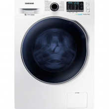 Masina de spalat rufe cu uscator Samsung , WD70J5A10AW, 1400 rpm, 7 kg spalare, 4 kg uscare, Eco Bubble, Motor Digital Inverter, Alb