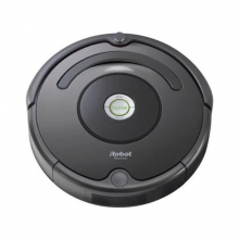 Robot de aspirare iRobot Roomba 676, Antiangle, Wall Follow, Program SPOT, Argintiu/Negru
