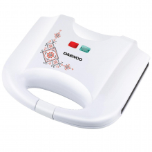 Sandwich maker Daewoo DSM25TR, 800 W, design traditional, placi neaderente, termostat, CoolTouch, Alb