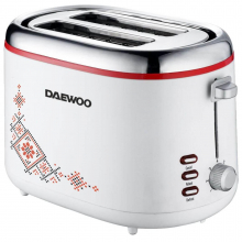 Prajitor de paine Daewoo DBT70TR, 900 W, design traditional, 2 felii, indicator luminos, carcasa CoolTouch, Alb