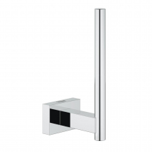 Suport role hartie Grohe Essentials Cube, fixare ascunsa, Crom
