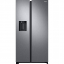 Side by side Samsung RS68N8321S9, 617 L, A++, Full No Frost, Twin Cooling, H 178 cm, Inox