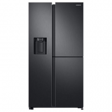 Side by side Samsung RS68N8671B1, 640 l, NoFrost, Touch control, Dispenser apa/gheata, Clasa A++, H 178 cm, Black inox