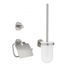 Set accesorii WC 3 in 1 Grohe Essentials 40407DC1, Crom