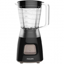 Blender Philips Daily Collection HR2052/90, 450 W, 1.25 l, Pulse, Negru