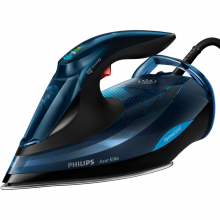 Fier de calcat Philips Azur Elite GC5034/20, 3000 W, Talpa SteamGlide Plus, Tehnologie OptimalTEMP, 65 g/min, Jet de abur vertical, Albastru/Negru