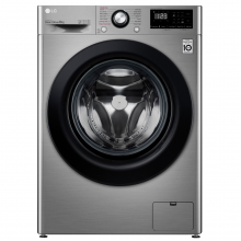 Masina de spalat rufe LG F4WV308S6TE, 8 kg, 1400 RPM, Clasa A+++, Inverter Direct Drive, Steam, Smart Diagnosis, Argintiu