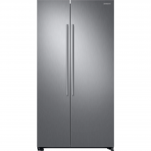 Side by side Samsung RS66N8100S9, 647 l, Clasa A+, Full NoFrost, Twin Cooling, Compresor Digital Invertor, H 178 cm, Inox